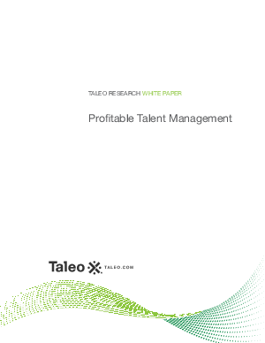 talent management white papers Learn current human resources and talent management issues and get objective and up-to-date human resources information download our human resources and talent management and related white papers on hr exchange network.