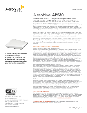 Aerohive AP230 - Global Risk Community Research Library