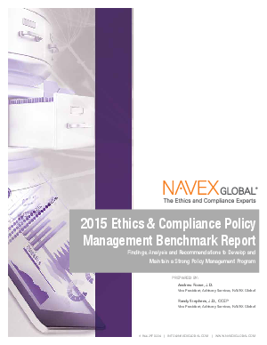 Corporate Compliance Benchmarking