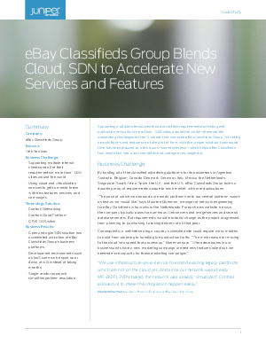 eBay Classifieds Group Blends Cloud, SDN to Accelerate New