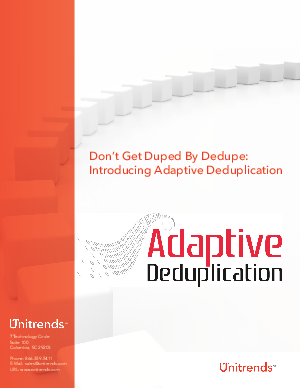 deduplication research papers We provide results on a database of research papers, where we show that modeling deduplication of paper and venue records collectively improves deduplication performance for.